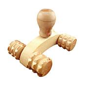 1pcs de madera de cuerpo completo de cuatro ruedas de madera coche rodillo relajante herramienta de masaje de la mano