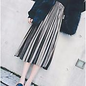 秋と冬のウエストゴムプリーツスカートの女の子のメタリック色純金のベルベットのスカートワードスカートの長いセクション