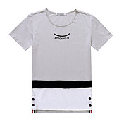 スリム2017夏の新人のサイン'半袖コットンTシャツ韓国人