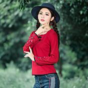 2016ドンクアン国家風レトロシャツミニマリストファッションは薄いコートでした