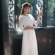 サインバネ2017女性'レディーススリムレトロ刺繍入りフェアリースカートウエストレースドレス女性