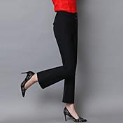 realmente hacer nuevas 2017 del resorte nuevas mujeres&# 39; s pantalones de campana inferior delgados pantalones negros pantimedias