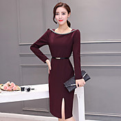 firmar a principios de primavera 2017 las mujeres&# 39; s de manera versión coreana de la parte larga Vestido de corte marea paquete