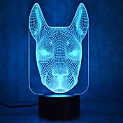 Vánoční pes dotykový stmívání 3d vedl noční světlo 7colorful dekorace atmosféra lampa nezvyklý světelný vánoční světlo