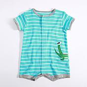 赤ちゃん カジュアル/普段着 ストライプ コットン ワンピース 夏 半袖