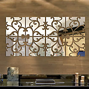 De moda Ocio 3D Pegatinas de pared Calcomanías 3D para Pared Adhesivos de Pared Espejo Calcomanías Decorativas de Pared,Vidrio Material