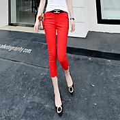firmar verano 2016 nueva versión coreana de pantalones delgados pies lápiz pantalones traje pantalón flaco femenina