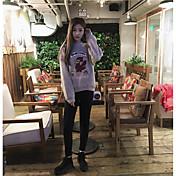 野生の薄いファッションの潮のファンの女の子に署名' sの心熟考漫画のひよこ刺繍入りセーターの女性のヘッジ