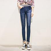 スリムな弾性ウエストストレッチパンツは薄い足の鉛筆のズボンの潮の女性だった署名