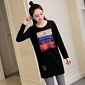 新しい春の妊婦と長いセクションボトミングシャツ緩い綿のTシャツモデルのリアルショットの品質スポット