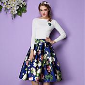 Primavera 2017 originales de gama alta real retro tiro faldas cintura delgada poner un tutú grande
