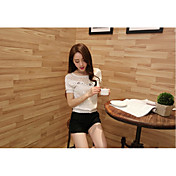 camisa del cordón de la camisa pequeña camisa de manga corta párrafo corto auténticos mujeres coreanas nuevo verano camisa de gasa