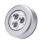 LEDタッチタッチナイトライト3ledsコードレススティックタップワードローブタッチランプミニウォールランプキャビネットライトなしバッテリー