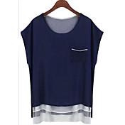 Modelos 2015 del resorte modelos de la explosión de los aliexpress en la camisa de la gasa de Europa y de América camisa salvaje de la