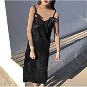 韓国ベルベットはあなたの不注意見事なレトロな金属製のストラップのドレス本物のショットドレス