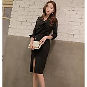 Vestido coreano del viento de las señoras 218.337