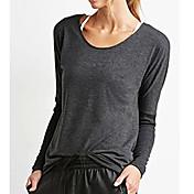 アマゾン' sの新しいファッションの女性の緩い長袖シャツ漏れバックカジュアルなTシャツ