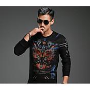 2016新しい秋のファッションカジュアルな傾向の人格の印刷ラウンドネック長袖セーター