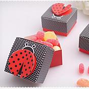 100 Piece / Set Soporte para regalo -Cúbico Papel de tarjeta Cajas de regalos Cajas de Regalos