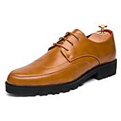 Hombre-Tacón Plano-Confort-Zapatos de taco bajo y Slip-Ons-Exterior Oficina y Trabajo Informal-Materiales Personalizados-