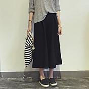 Dámské Jednoduchý Kalhoty chinos Kalhoty Volné High Rise Jednobarevné