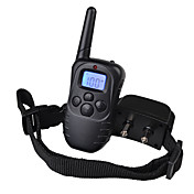 collar de la corteza Collares de Entrenamiento para Perros Antiladrido Recargable Control Remoto Vibración LCD 300M Un Color Nailon