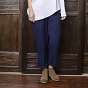 レディース ストリートファッション ハイライズ ワイドレッグ 非弾性 チノパン パンツ ゼブラプリント