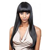 100%の人間の髪のかつらブラジルの処女の髪のかつら真っ直ぐなスタイルの黒の女性のためのgulelessフルレースのかつら
