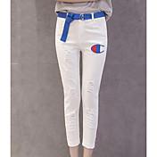 レディース ストリートファッション ミッドライズ スリム マイクロエラスティック ジーンズ パンツ ゼブラプリント