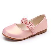 Chica Oxfords Confort Zapatos para niña florista PU Primavera Verano Vestido Informal Fiesta y Noche Flor de Satén Tacón PlanoBlanco