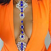 Mujer Joyería Corporal Cinturones metálicos Para Cuerpo Collar para Vientre Moda Cosecha estilo de Bohemia Hecho a mano Arco iris Turco
