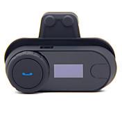 800m lcd pantalla de la motocicleta bluetooth interphone inalámbrico bt casco auricular con radio fm