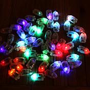 50pcs / set llevaron las luces de destello del globo de las lámparas del rgb para la luz de globo de papel del globo de la linterna la