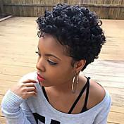 Pelucas de cabello negro pelucas de cabello humano african roll hair curly hair