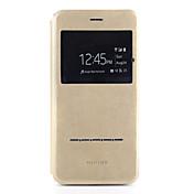 のために ケース カバー カードホルダー スタンド付き ウィンドウ付き 折りたたみ式 フルボディー ケース ソリッドカラー ハード PUレザー のために AppleiPhone 7プラス iPhone 7 iPhone 6s Plus iPhone 6 Plus