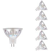 gmy® gu5.3 (mr16) proyector llevado mr16 vidrio flip-chip 1cob 3w 250lm 3000k caliente blanco ac / dc 12v 6 piezas