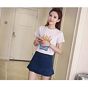 Mujer Noche Casual/Diario Mini Faldas,Corte Bodycon Primavera Un Color
