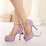 Sandály-PU-S páskem-Dámské-Stříbrná Růžová-Běžné-Kačenka