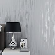 3D 縞柄 ホームのための壁紙 コンテンポラリー ウォールカバーリング , 不織布紙 材料 自粘型 壁紙 , ルームWallcovering