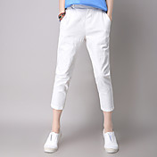 Mujer Sencillo Tiro Medio Microelástico Shorts Pantalones,Holgado