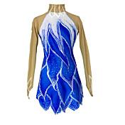 アイススケートウェア 女性用 女の子 スケーティング スカート&ドレス ドレス 高弾性 フィギュアスケートのドレス 保温 ラインストーン スパンコール スパンデックス スケートウェア アウトドアウェア アスレイジャー クラシック ファッション