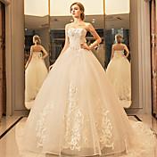 プリンセス ハートカット フロア丈 チュール ウェディングドレス とともに クリスタル アップリケ レース 〜によって YUANFEISHANI