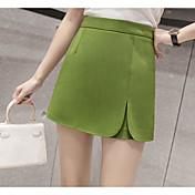 Mujer Vacaciones Mini Faldas Verano Un Color