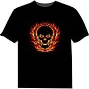 Camisetas LED  100% Algodón 2 Baterías AAA