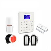 2.4gスマートホームセキュリティwifi gprs無線LAN gsmアラームシステムアンドロイド/ ios appリモートコントロール音声プロンプト作業wti wamer v8