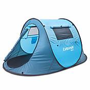 1 osoba Stříška Dvojitý Camping Tent Vyskočí stan Odolný proti vlhkosti Voděodolný Odolné vůči dešti <1000mm pro Kempink Outdoor Vevnitř