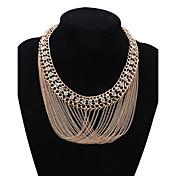Mujer Gargantillas Collares de cadena Collares Declaración Cristal Joyas Brillante Legierung Diseño Básico Diseño Único Colgante Acrílico