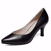 Mujer Tacones Zapatos formales Semicuero Primavera Otoño Zapatos formales Tacón Robusto Blanco Negro 12 cms y Más
