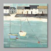Pintada a mano Abstracto Horizontal,Abstracto Un Panel Lienzos Pintura al óleo pintada a colgar For Decoración hogareña