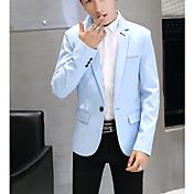 メンズ ワーク 春/秋 ブレザー,シンプル シャツカラー ソリッド レギュラー ニット 長袖